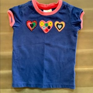 Hanna Andersson Embroidered Tee - Size 4